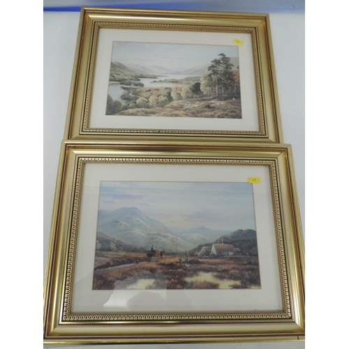 603A - 2x framed prints - mountain scenes...