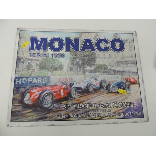 918C - Reproduction metal sign Monaco Grand Prix...