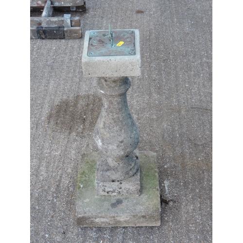 93B - Brass garden sun dial on concrete plinth...