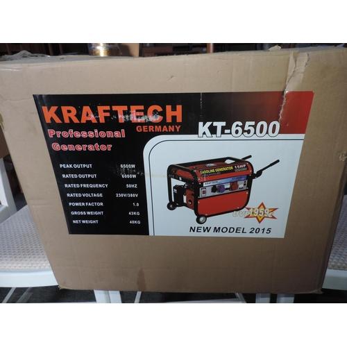 302A - Kraftech 15hp petrol generator - peak output 6500w...