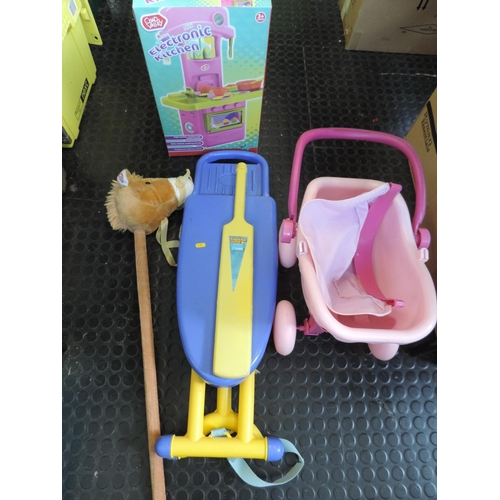 567A - Toy pram, ironing board, hobby horse etc...