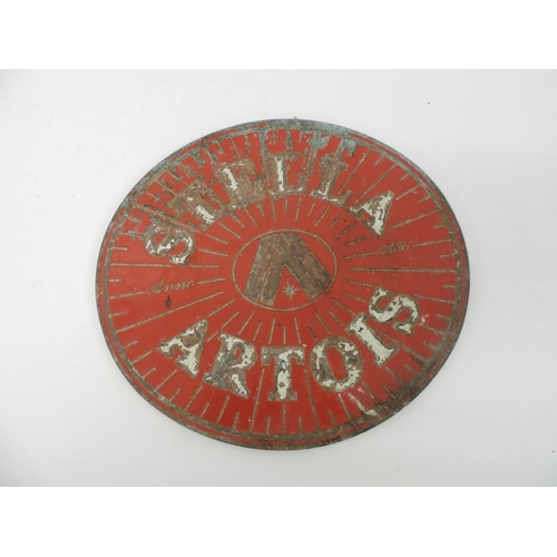 845A - Heavy brass plaque - Stella Artois...