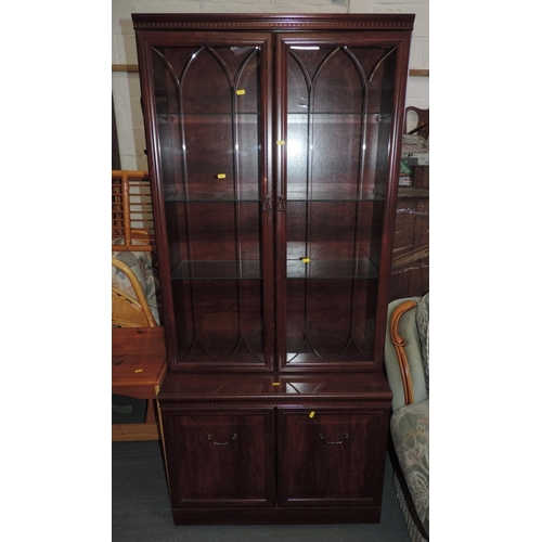 335F - Display cabinet with cupboard under...