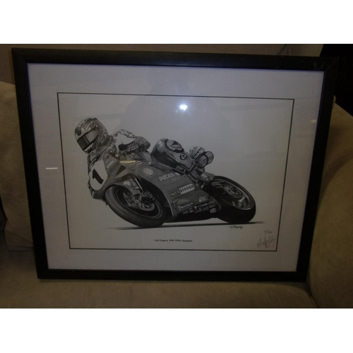 446A - Framed picture - Carl Fogarty 1999 WSB Champion...