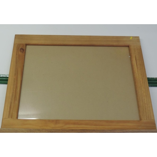 728A - Large glazed Pine frame...