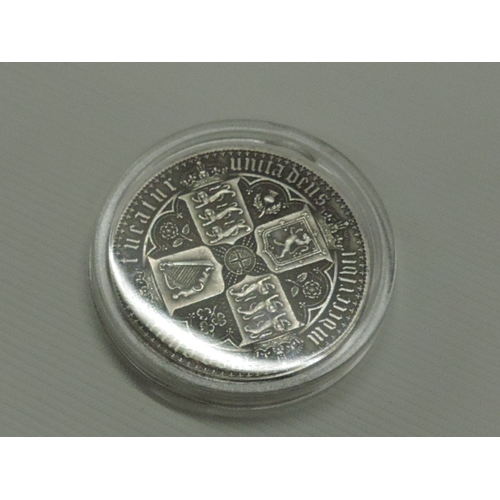 947 - Silver coloured Britannia coin...