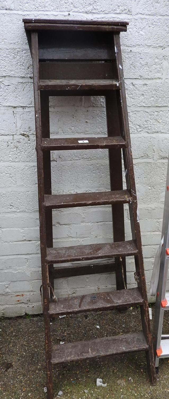 folding wooden step ladders. Black Bedroom Furniture Sets. Home Design Ideas