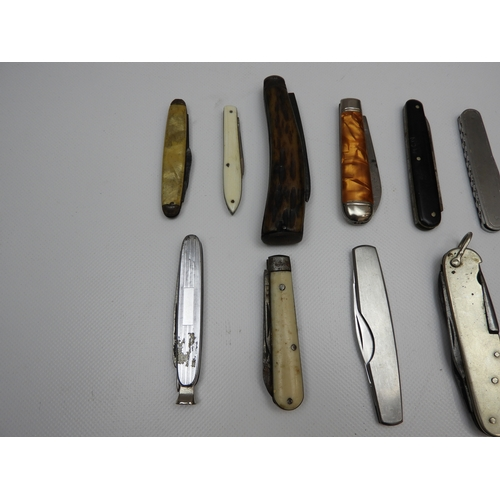 10x Old Pocket Knives