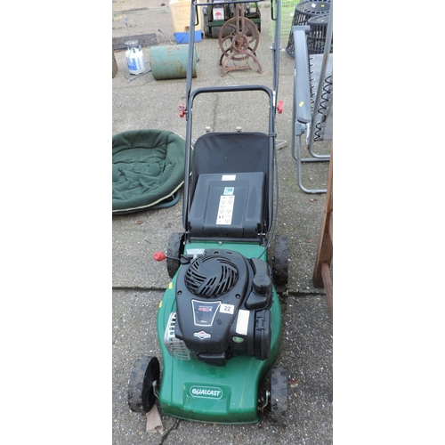 22 - Qualcast Petrol Engine Lawn Mower...