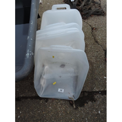 26 - Plastic Water Carriers...