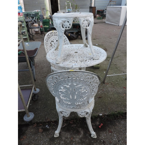 30 - Aluminium Garden Table, 2x Matching Chairs and Other Matching Table...