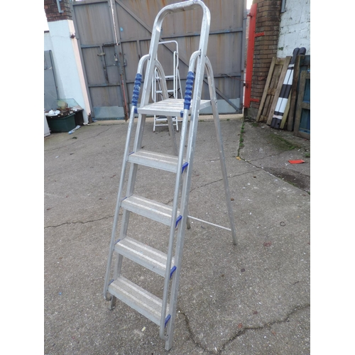 31 - Folding Aluminium Ladders...