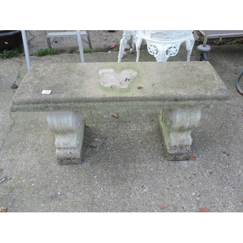 34 - Concrete Garden Bench...