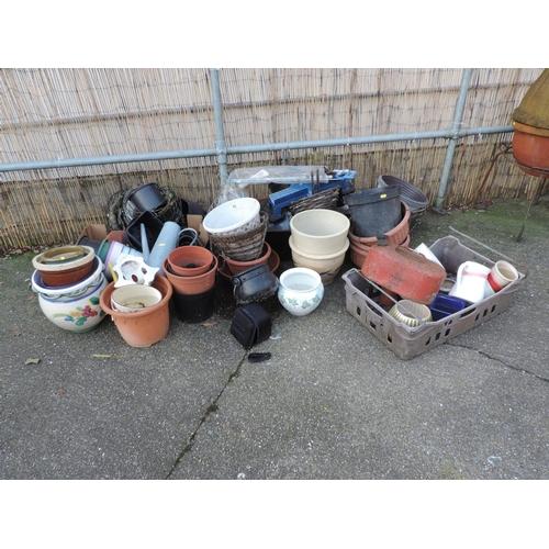 44 - Quantity of Garden Planters etc...