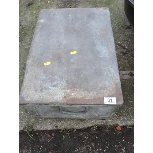 31 - Metal Storage Box...