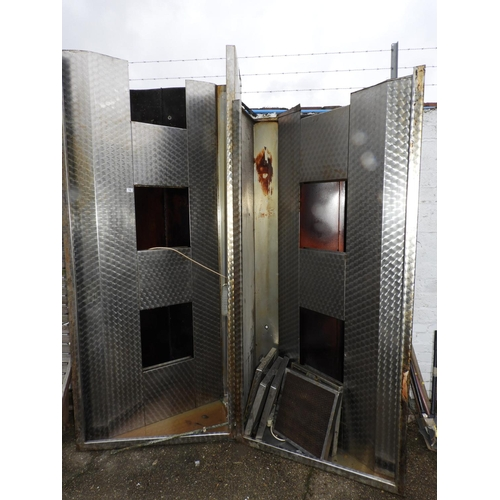 12 - Large Commercial Stainless Steel Kitchen Extraction Canopy...
