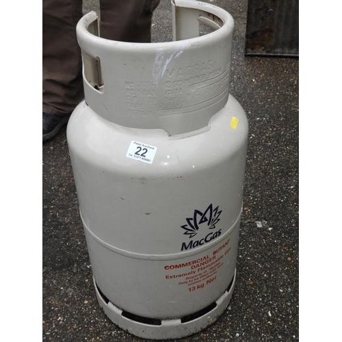 22 - Butane Gas Cylinder - FULL...