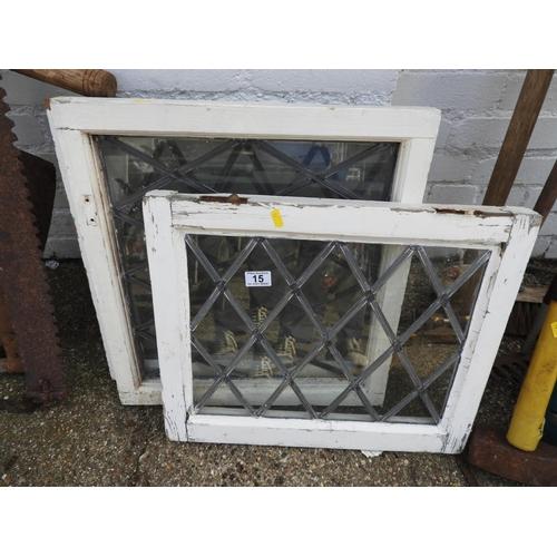 15 - Leaded Glazed Windows...