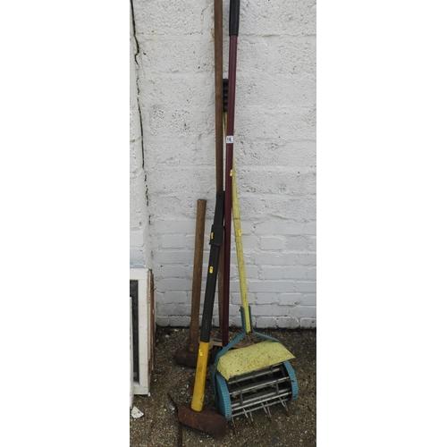 16 - Garden Tools - Sledge Hammer etc...