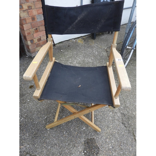 24 - Folding Directors Chairs...