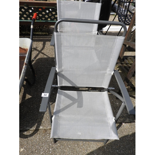 34 - Pair of Folding Garden Chairs...