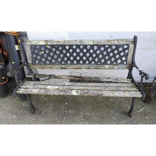8 - Metal End Garden Bench...
