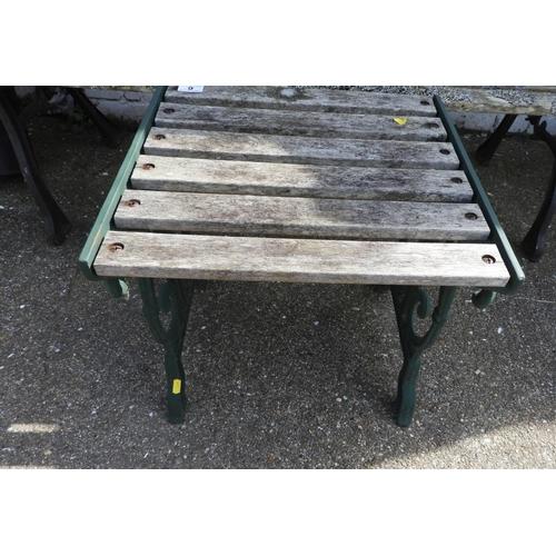 9 - Metal End Garden Table...
