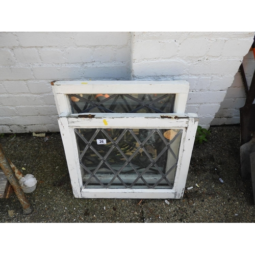26 - Quantity of Leaded Glazed Window Panes...