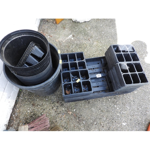 21 - Quantity of Planters and Seed Trays...