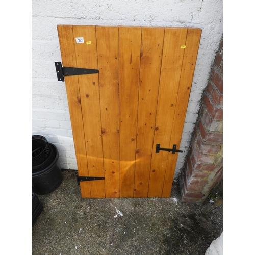 22 - Light Wood Stable Type Door...