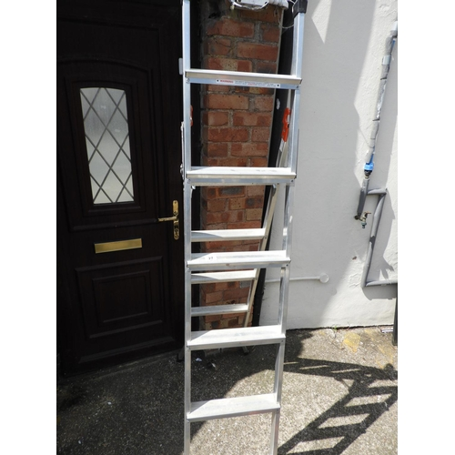 27 - Folding Aluminium Ladders...