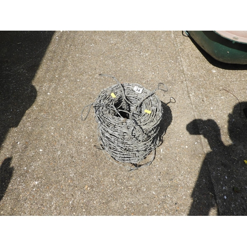 34 - Roll of Barbed Wire...
