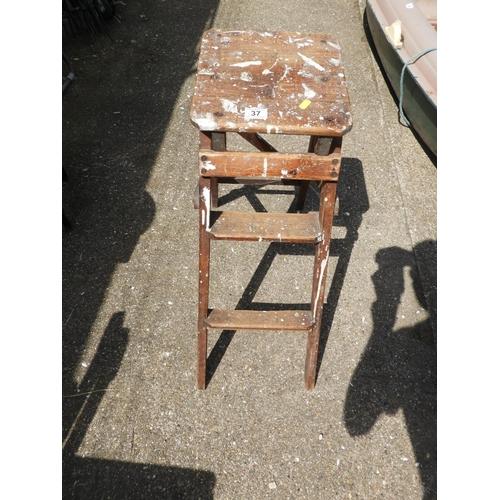 37 - Folding Vintage Wooden Steps...