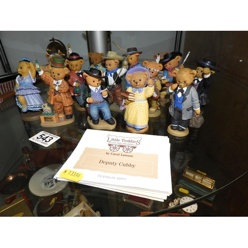 543 - Franklin Mint Collectables - Little Teddies on the Prairie