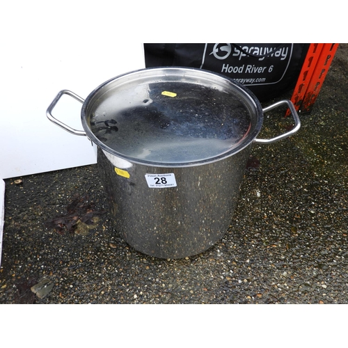 28 - Stainless Steel Lidded Cooking Pot...