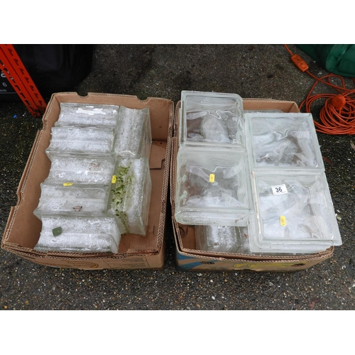 36 - Quantity of Glass Bricks...