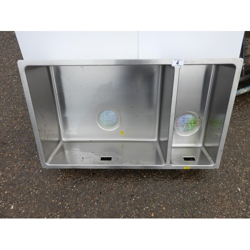 4 - Stainless Steel Sink...