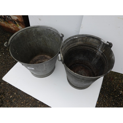 52 - 2x Galvanised Buckets...