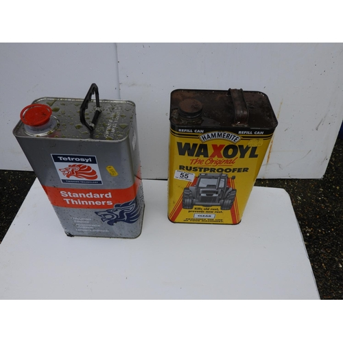 55 - Tin of Wax Oil and Tin of Thinners...