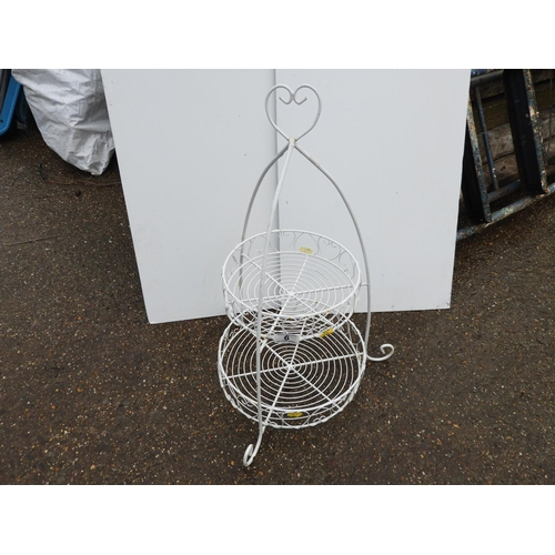 6 - Wire Basket Plant Stand...
