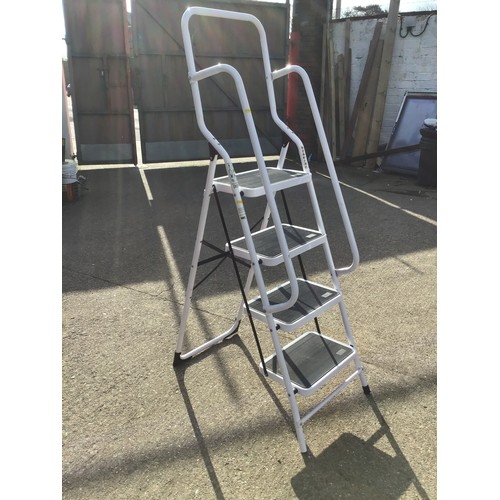 34 - Aluminium Step Ladder with Hand Rails