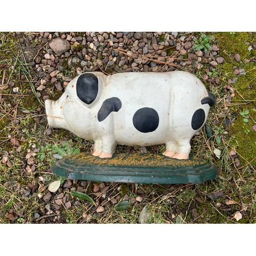 4 - Cast Iron Pig Door Porter