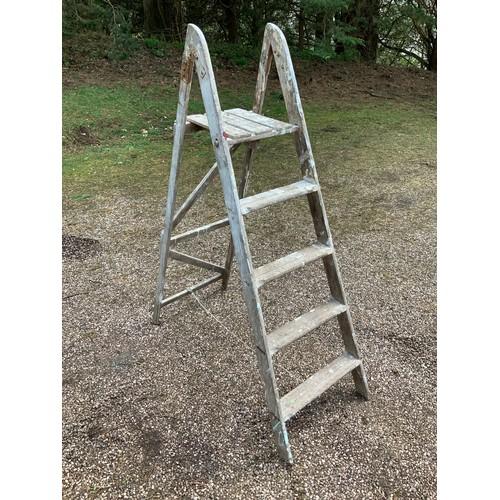 56 - Folding Wooden Ladders