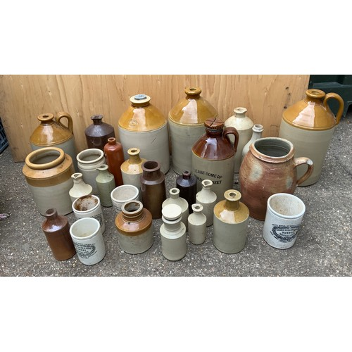 6 - Quantity of Stoneware Pots and Flagons