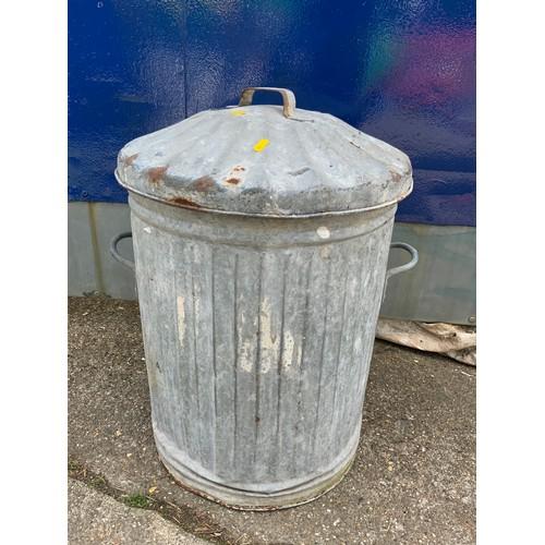 35 - Galvanised Dustbin