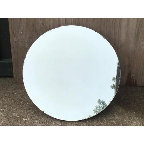 432 - Vintage Circular Mirror - 76cm Diameter