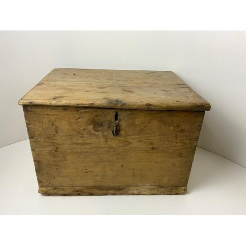 248 - Pine Wooden Storage Box - 42cm x 32cm x 28cm
