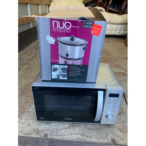 752 - Kenwood Microwave and Slow Cooker