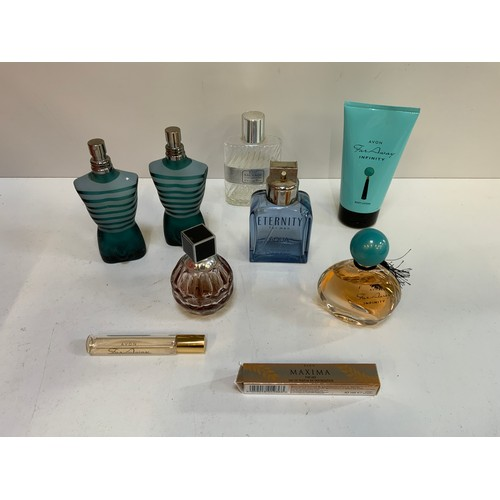 642 - Cosmetics and Perfume Bottles 2x with Perfume