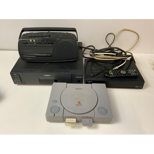 254 - Sony PlayStation, Goldstar Video Player and Matsui Radio Cassette Recorder etc